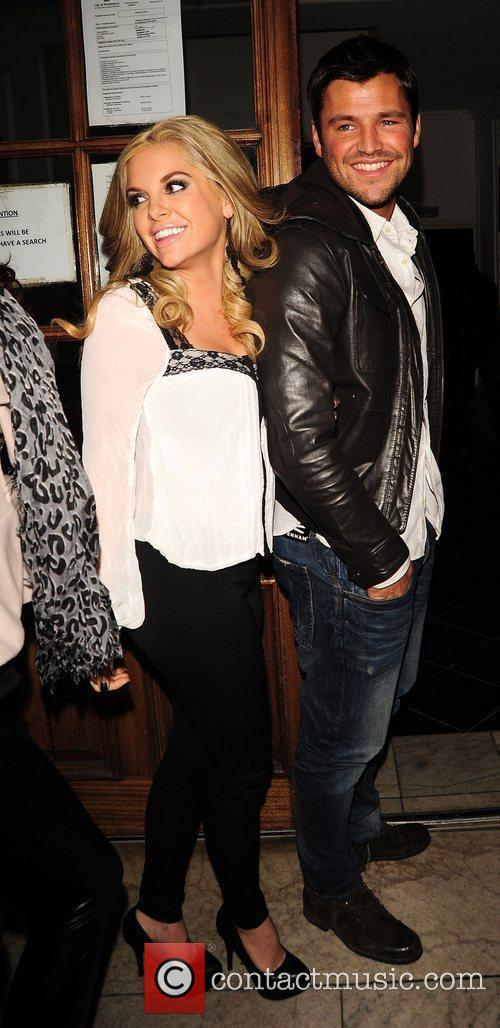 Kayla Collins and Mark Wright leave Nobu restaurant...