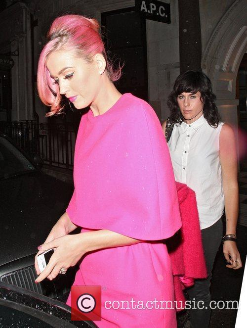 Katy Perry in shocking pink leaves Nobu Berkeley...
