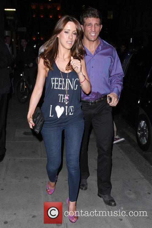 Alex Reid with Nicola T wearing a 'Feeling...
