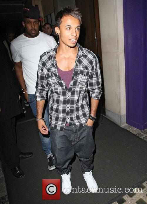 Aston Merrygold of JLS leaving Nobu Berkeley in...