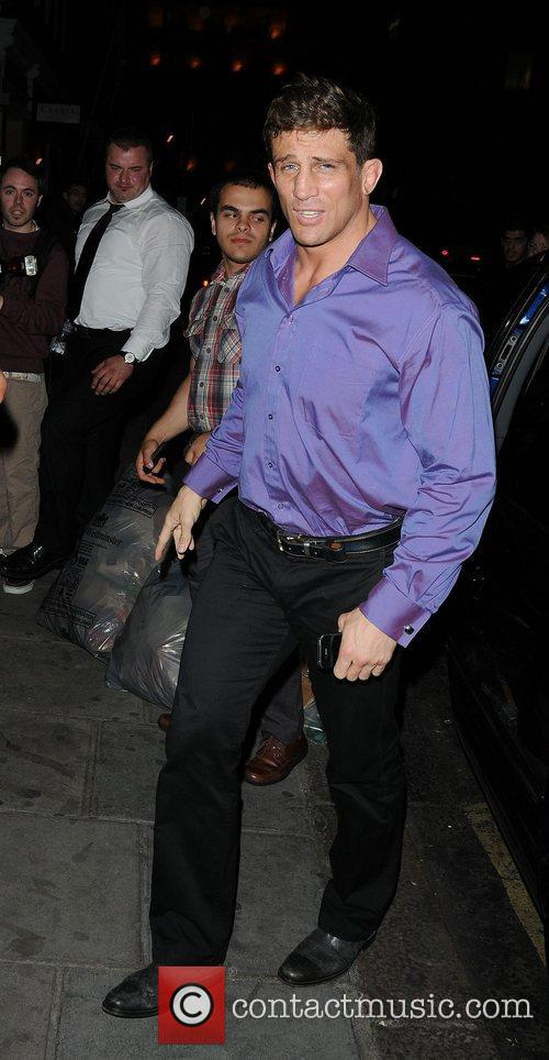 Alex Reid arriving for dinner at Nobu Berkeley...
