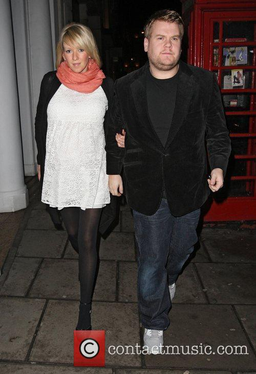 James Corden and pregnant Julia Carey at Nobu...