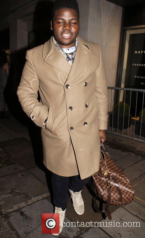 Paije Richardson leaves Nobu restaurant in Mayfair London,...