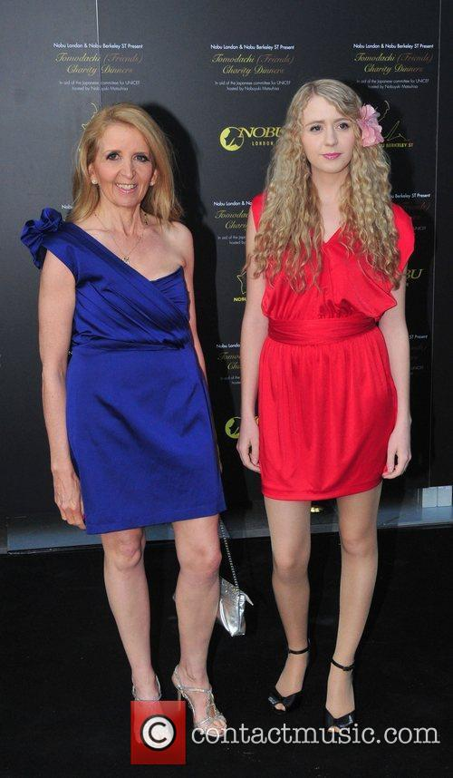 Gillian McKeith and daughter Skylar Nobu Charity Dinner...