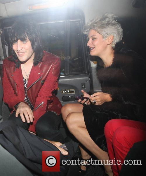 Comedian Noel Fielding on a night out with...