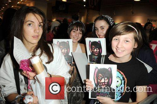 Noel Fielding attends his book signing at Waterstone's...