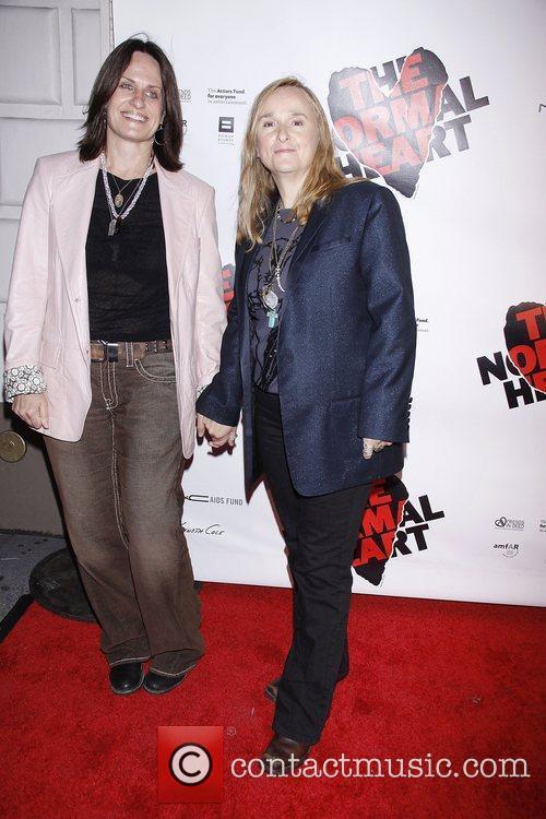 Linda Wallem and Melissa Etheridge  Opening night...