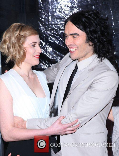Greta Gerwig and Russell Brand 9