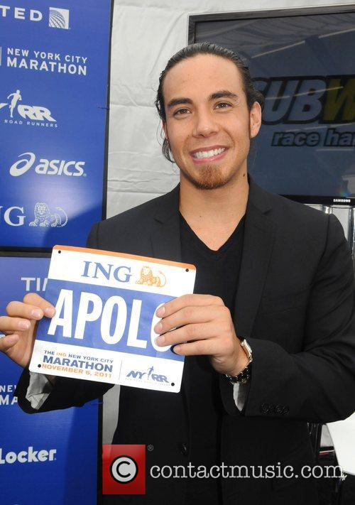Apolo Ohno  attending a press conference ahead...