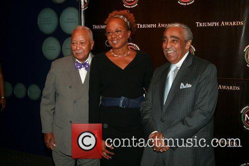 Mayor David Dinkins, Paula Madison and Congressman Charles...