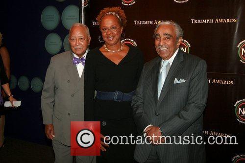 Mayor David N. Dinkins, Paula Madison and Congressman...
