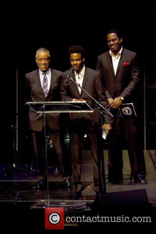 Al Sharpton, Chris Rock and Lamman Rucker 5