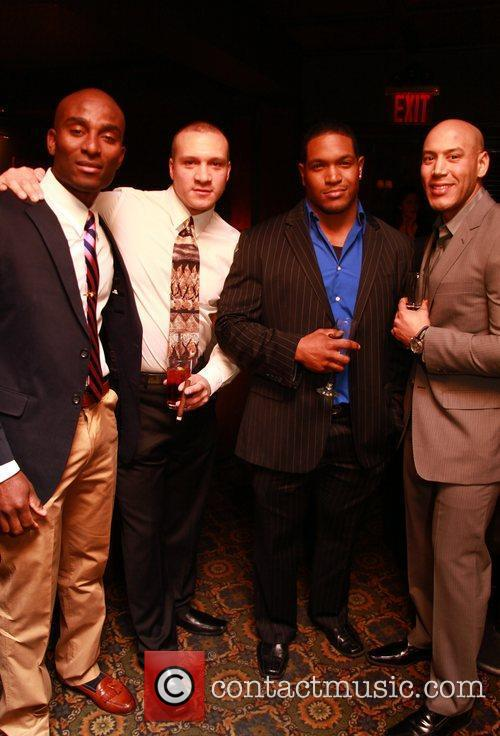 Guests NYC's Bravest at Merchants Cigar Lounge Gala...