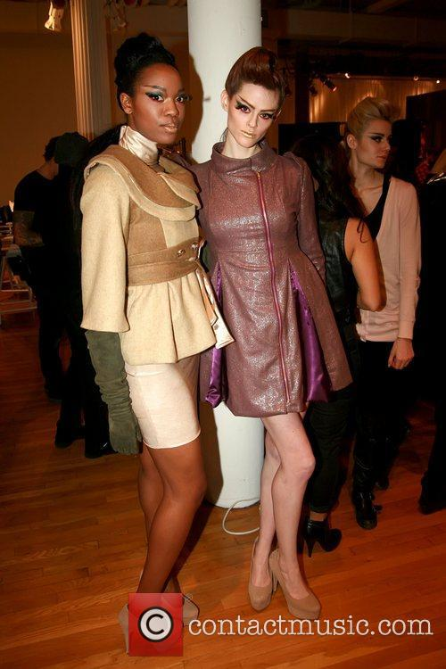 Ramona Singer And Model Style 360 New York Fashion Week Fall 2011 Sachika Inside 8