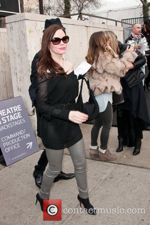 Rose McGowan Mercedes-Benz IMG New York Fashion Week...