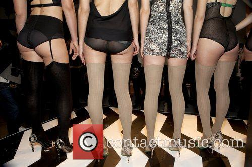 Models Mercedes-Benz IMG New York Fashion Week Fall...