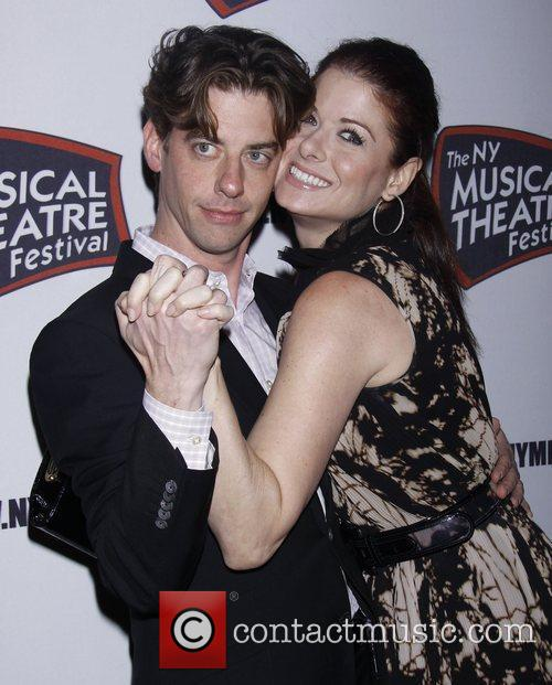 Christian Borle, Debra Messing and The Hudson Theatre 1