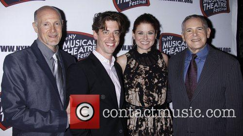 Christian Borle, Craig Zadan, Debra Messing and The Hudson Theatre 5