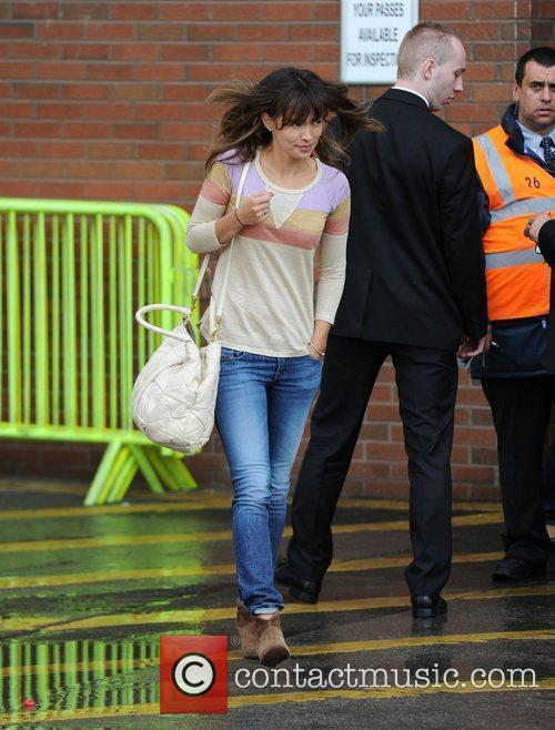 Anna Vidic Departures from Old Trafford following Manchester...