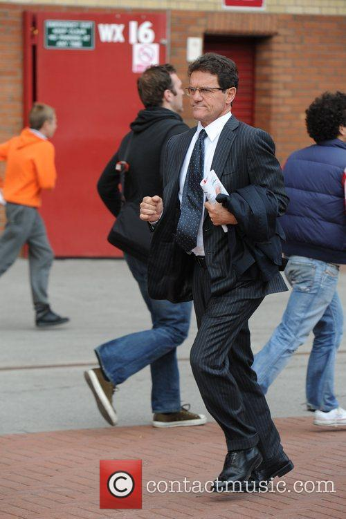 Fabio Capello Departures from Old Trafford following Manchester...
