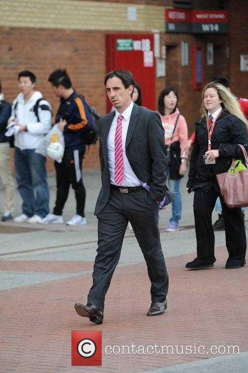 Gary Neville Departures from Old Trafford following Manchester...