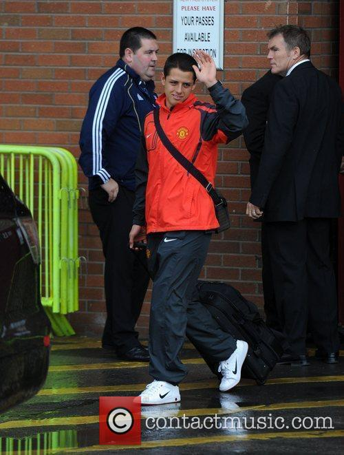 Javier Hernandez Departures from Old Trafford following Manchester...