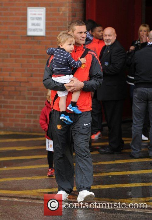 Nemanja Vidic Departures from Old Trafford following Manchester...