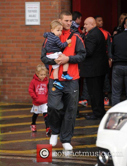 Departures from Old Trafford following Manchester Utd's victory...