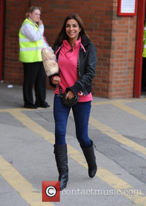 Shobna Gulati Departures from Old Trafford following Manchester...