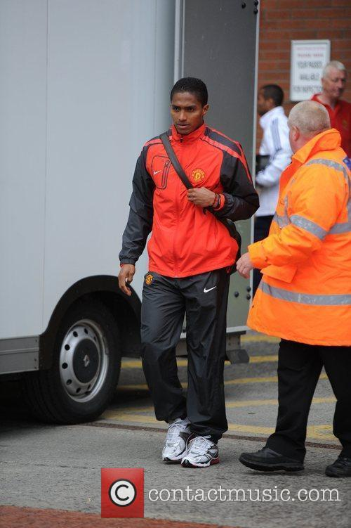 Antonio Valencia Departures from Old Trafford following Manchester...