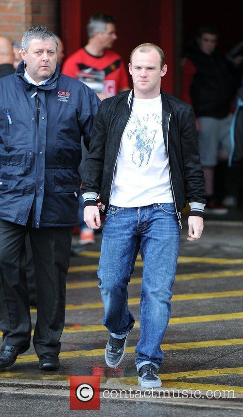 Wayne Rooney Departures from Old Trafford following Manchester...