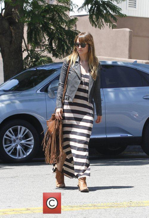 Olivia Wilde arrives for lunch at Little Dom's...