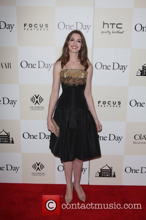 Anne Hathaway New York premiere of 'One Day'...