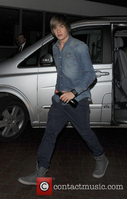 Liam Payne from boyband One Direction leaving a...