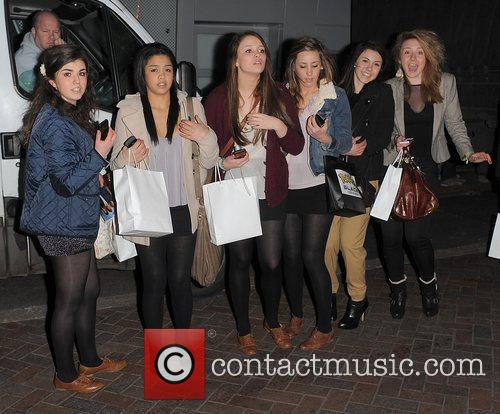 A group of female fans had gathered in...