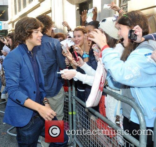 Harry Styles of One Direction outside the BBC...
