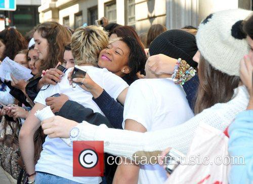 Of One Direction outside the BBC Radio 2...