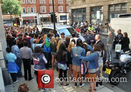 One Direction outside the BBC Radio 2 studios...