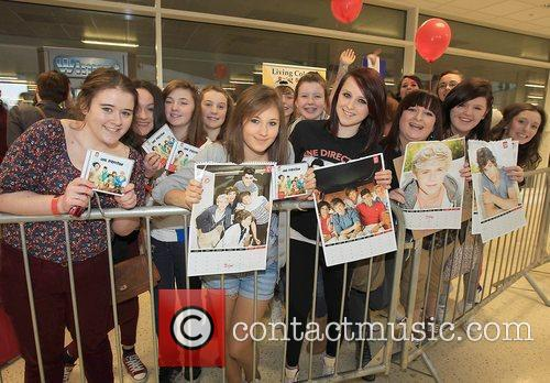 One Direction attend a signing for their new...