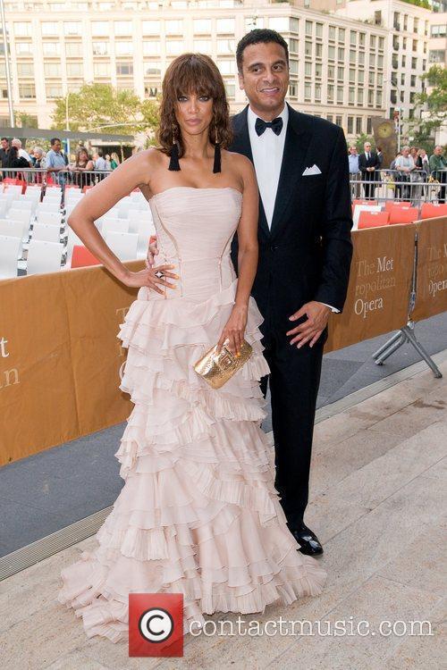 Tyra Banks and John Utendal  attending The...