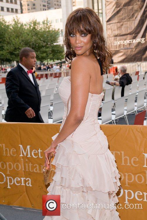 Tyra Banks attending The Metropolitan Opera Season opening...