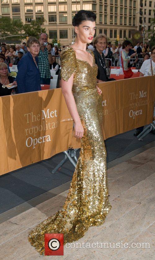 Crystal Renn The Metropolitan Opera Season opening night...