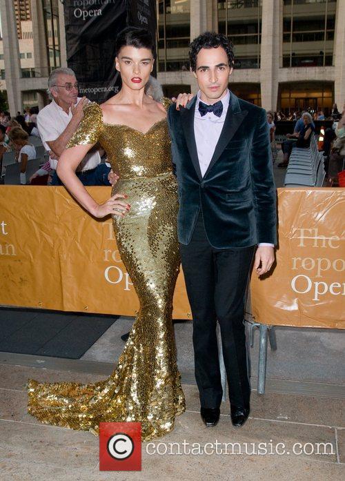 Crystal Renn and Zac Posen The Metropolitan Opera...