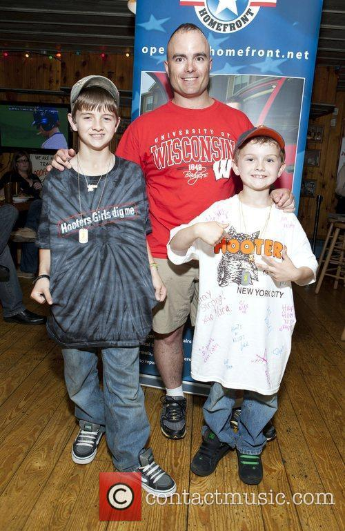 Sargent First Class Brian Eischwith with his sons...