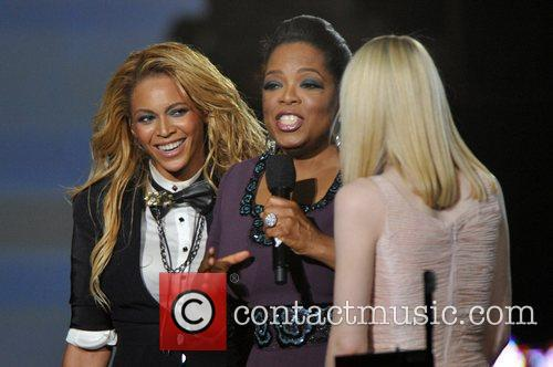 Beyonce Knowles, Dakota Fanning and Oprah Winfrey 1