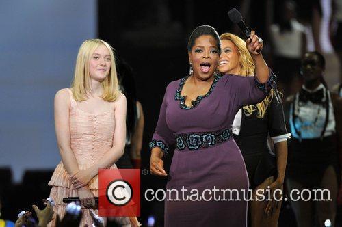 Dakota Fanning, Beyonce Knowles and Oprah Winfrey