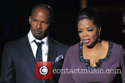 Jamie Foxx and Oprah Winfrey during Surprise Oprah!...