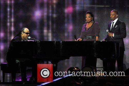Stevie Wonder, Jamie Foxx and Oprah Winfrey 2