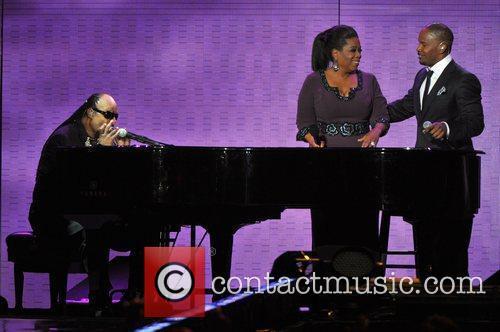 Stevie Wonder, Jamie Foxx, Oprah Winfrey