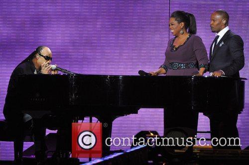 Stevie Wonder, Jamie Foxx and Oprah Winfrey 1